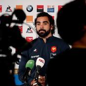 Yoann Huget en conférence de presse à Marcoussis.