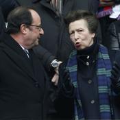 François Hollande et la princesse Anne