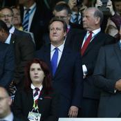 Le Premier ministre britannique David Cameron était également présent dans le temple du rugby anglais.