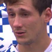 Baptiste Serin en larmes pour son dernier match à Bordeaux