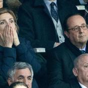 Julie Gayet très démonstrative pendant France-Angleterre