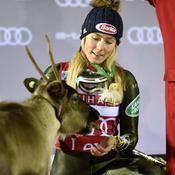Ski : à Levi, Mikaela Shiffrin a gagné un renne qu'elle a nommé Ingemar