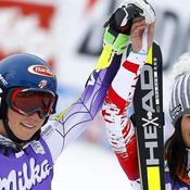 Mikaela Shiffrin et Anna Fenninger