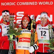 Podium Kuusamo - Joergen Graabak, Eric Frenzel, Magnus Krog