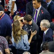 Tom Brady en compagnie de son épouse