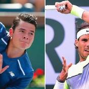 Nadal-Raonic, explosive opposition de style