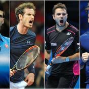 Novak Djokovic, Andy Murray, Stan Wawrinka, Roger Federer