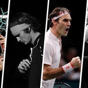 Karen Khachanov, Alexander Zverev, Roger Federer et Richard Gasquet