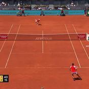 Madrid : Djokovic trop fort pour Chardy, les plus beaux points en vidéo