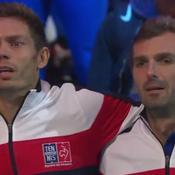 Coupe Davis : les larmes de Benneteau et Mahut pendant la Marseillaise