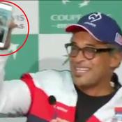 Monfils appelle Noah en FaceTime en pleine conférence de presse