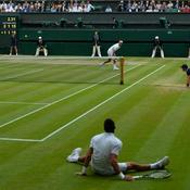 Djokovic à terre