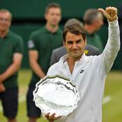Federer et son trophée