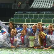 Karolina Pliskova et ses coéquipières de l'équipe de République tchèque