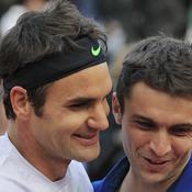 Roger Federer et Gilles Simon
