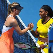 Maria Sharapova et Serena Williams à l'Open d'Australie, en 2016