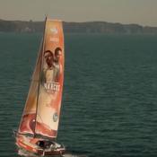 Route du Rhum : un voilier aux couleurs de la série événement ''Narcos''