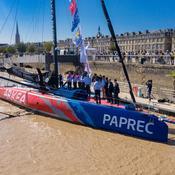 Sébastien Simon baptise son Arkéa Paprec avec le Vendée Globe en vue