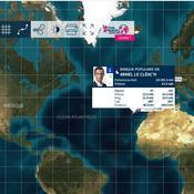 La course en direct et la carte interactive