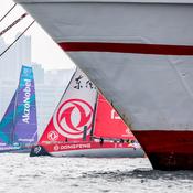 Volvo Ocean Race : AkzoNobel devant Caudrelier et Donfgeng dans la baie de Hongkong
