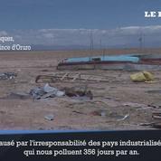 Le lac Poopó en Bolivie a disparu, complètement asséché.