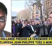 François Hollande rend hommage à Clarissa Jean-Philippe