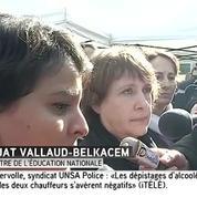 Les réactions de Ségolène Royal et de Najat Vallaud-Belkacem après l'accident de Rochefort