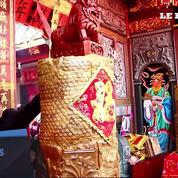 A Xiamen en Chine, un gâteau de plus d'un mètre cinquante de haut