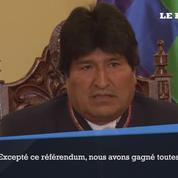 Référendum en Bolivie: Evo Morales reconnaît avoir «perdu la bataille»