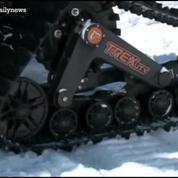 Un mécanicien canadien trafique sa voiture pour rouler sur la neige