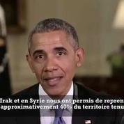 «40% du territoire détenu par l'État islamique en Irak a été reconquis» déclare Obama
