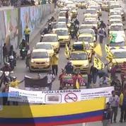Les taxis colombiens réclament la fin d'Uber dans leur pays