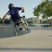 Cet homme surmonte son handicap pour apprivoiser les skateparks
