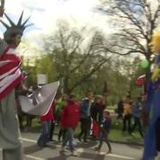 A Hanovre, des dizaines de milliers de manifestants contre le traité transatlantique
