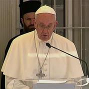 Le pape en visite à Lesbos : Vous n'êtes pas seuls