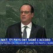 New York : 175 pays ont signé l'accord de Paris sur le climat