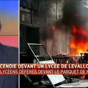 13 lycéens devant la justice après un incendie devant un lycée de Levallois-Perret
