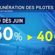 Air France va imposer à ses pilotes des baisses de rémunération à partir du 1er juin