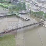 Les images saisissantes de la crue de la Seine vue du ciel