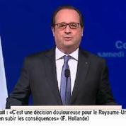 François Hollande compare le Brexit à un «divorce», «une décision douloureuse»
