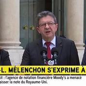 À sa sortie de l'Élysée, J.-L. Mélenchon se dit «consterné»