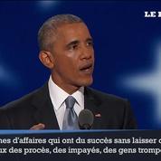 Barack Obama encense Hillary Clinton et remercie l'Amérique