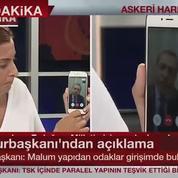 Turquie : le président Erdogan apparaît à la télévision par visiophonie