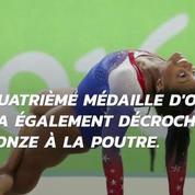 JO : Simone Biles bat tous les records et remporte une 4e médaille d'or
