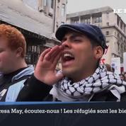 Les Londoniens dans la rue pour l'accueil des réfugiés