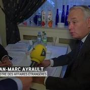 Jean-Marc Ayrault et son homomogue allemand dans l'Est de l'Ukraine