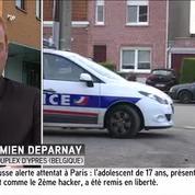 Deux policiers belges transportant des migrants interpellés en France