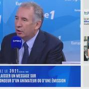 Bayrou : si Sarkozy a encouragé les échauffourées de 2006, «c'est une forfaiture»