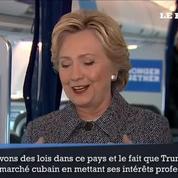 Clinton accuse Trump d'avoir enfreint l'interdiction de commercer avec Cuba