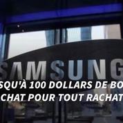 Samsung offre 100$ aux détenteurs du Galaxy Note 7 pour acheter un autre téléphone